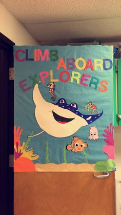 Finding Nemo inspired bulletin board/door