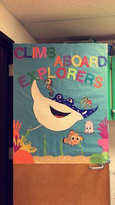 Finding Nemo inspired bulletin board/door