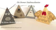 Die Bremer Stadtmusikanten mit den Thinlits Freunde mit Ecken und Kanten und dem Stempelset Playful Pals