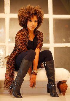 Leopard | Para encorajar as meninas a assumirem seus fios selecionei uma ...