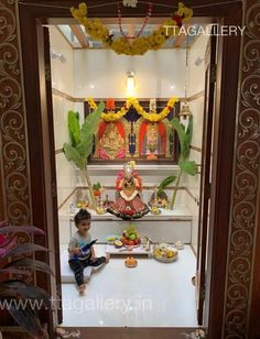Architect House, Architect Design, Traditional Wedding Decor, Pooja Room Door Design, Lord Krishna Wallpapers, Puja Room, Tanjore Painting, Durga Puja, Dream House Exterior