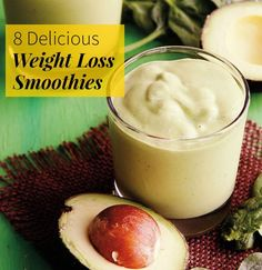 Slim down with these 8 delicious weight-loss smoothie recipes. From Spinach and Avocado to Banana Cream Pie, and more - these will keep you satisfied throughout the day. Say goodbye and hello to protein packed flavorful smoothies.
