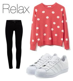"""Relax"" by asiannagreer on Polyvore featuring Equipment, J Brand and adidas Originals"