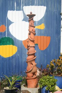 Outdoor installation in Pottery, a wonderful addition to any outdoor space.