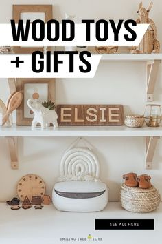 Shop unique, quality wooden toys and gifts for children that truly represent how special they are. #woodentoys #educationaltoys #keepsakes #giftideas Baby Toys, Kids Toys, Wood Toys, Keepsakes, Educational Toys, Special Gifts, Floating Shelves, Gifts For Kids, Playroom