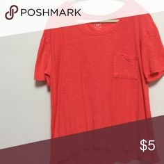Gap tee shirt Great tee longer in the back over size and comfy burnt orange color 😍 Gap Tops Tees - Short Sleeve