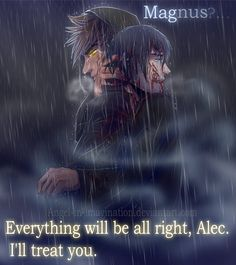 Grace in our tears ... Drawn by Angel-In-Imagination ... alexander 'alec' lightwood, magnus bane, the mortal instruments