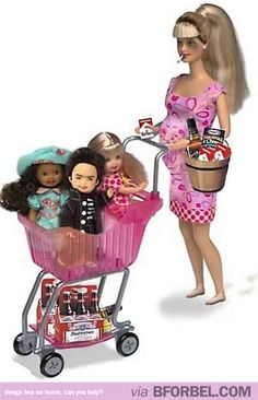 White trash Barbie