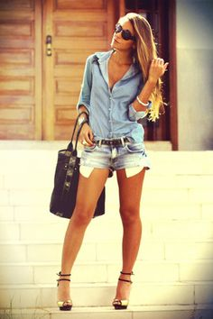 Don't know why denim is in this season but I am obsessed with it!!! So cute!