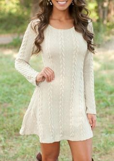 1eec7b5e5e69 Women Casual Winter Autumn Dress Lady Long Sleeve Crewneck Jumper Thin  Casual Knitted Sweater Mini Dress Vestidos Mujer