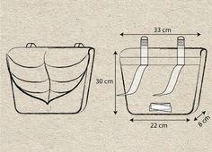 Red- Black Leaf Waterproof Pannier Bicycle Bag,Messenger bag Cycle bag,Bike accessory, Fietstas