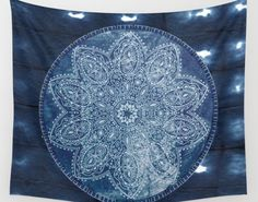 Dark Blue Mandala Shibori Tie Dye Tapestry Wall Hanging Meditation Yoga Grunge Hippie  Available in three distinct sizes, our Wall Tapestries are made of 100% lightweight polyester with hand-sewn finished edges. Featuring vivid colors and crisp lines, these highly unique and versatile tapestries are durable enough for both indoor and outdoor use. Machine washable for outdoor enthusiasts, with cold water on gentle cycle using mild detergent - tumble dry with low heat.   If you would like a…