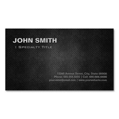 Cool Black Metal Steel Personal Individual Double-Sided Standard Business Cards (Pack Of 100). I love this design! It is available for customization or ready to buy as is. All you need is to add your business info to this template then place the order. It will ship within 24 hours. Just click the image to make your own!