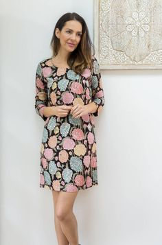 4ce1abc4cb The Georgina dress is a new style to Jaba with 3/4 length sleeves and