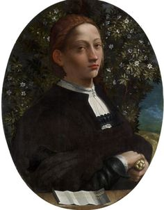 A painting of Lucrezia Borgia by Dosso Dossi (possible Borgia, actually named A Youth). This painter was versatile and his work was mostly Allegory and Myth.  His portraits show a rare insight into the sitter.  Matched with other painters of his day, he was a true master talent.  His landscape backgrounds are much more fully developed than even Leonardo or Raphael.
