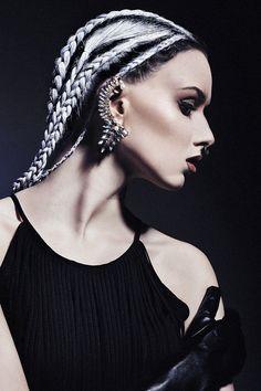 Black and platinum hair