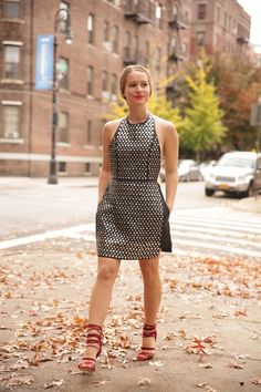 I love autumn leaves and my new Nasty Gal Living After Midnight Studded Dress!