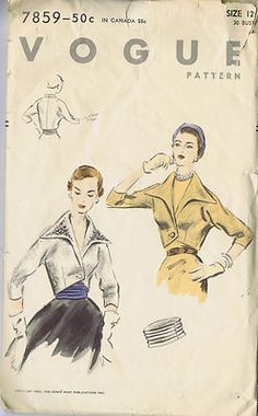 1950s 5417 McCall's Dress and Jacket