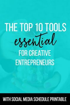 The Top 10 Tools Essential for Creative Entrepreneurs (FREE SOCIAL MEDIA PLAN included) | Getting started in the online business world can be tough! Each of our must-have tools is either free or less than $10. Perfect for the budget! Check out our top 10 AND get our free social media plan! | Blogging Tips | Entrepreneur