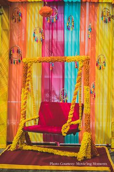 This summery outdoor wedding featured vibrantly-hued decor that exuded warm and sunny vibes. Desi Wedding Decor, Luxury Wedding Decor, Diy Wedding Backdrop, Marriage Decoration, Wedding Stage Decorations, Backdrop Decorations, Wedding Mandap, Wedding Receptions, Wedding Ideas