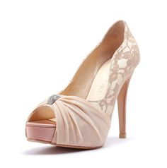 My Last Love, Nude Satin Wedding Heels with Rhinestones, Nude Satin Rhinestone Bridal Heels, Wedding Heels with Beaded Rhinestone Adornment by ChristyNgShoes on Etsy https://www.etsy.com/listing/183338333/my-last-love-nude-satin-wedding-heels