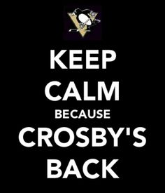 Sidney Crosby, back in action.