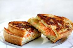 Smoked Salmon and Gruyere Grilled Cheese Sandwich on Simply Recipes