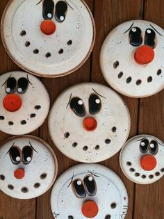 Snowman jar lids - no tutorial on this.