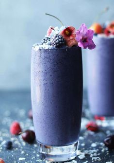 Start your morning off right with this tasty Pea Protein Powder Shake with Coconut Milk, Berries and Chia Seeds recipe.