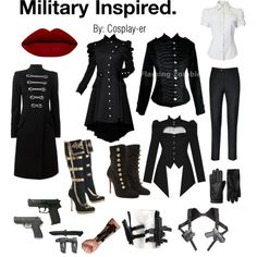 Military Inspired by cosplay-er on Polyvore featuring Pierre Balmain, Christian Louboutin, 5.11 Tactical and INC International Concepts