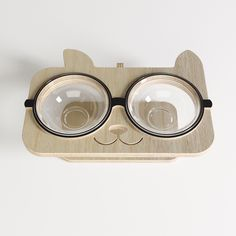 Glass Bowl for Cats, Niche Chat, Cat Gym, Wood Dog, Dog Furniture, Cat Condo, Cat Crafts, Pet Bowls, Love Pet, Dog Houses