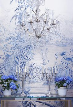 Susan harter currently obsessed with pinterest wallpaper for Anthropologie etched arcadia mural