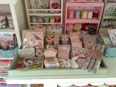 Baking In Miniature: 1:12 Scale Tilda Shop & 1:6 Scale Sewing Room