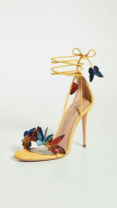 Fancy Shoes, Pretty Shoes, Beautiful Shoes, Cute Shoes, Me Too Shoes, Butterfly Heels, Stiletto Heels, High Heels, Stilettos