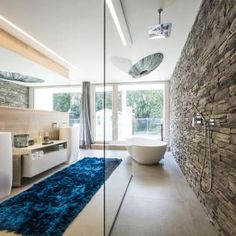 Modern shower room design inspiration bycocoon.com | glass doors | inox stainless steel bathroom taps | bathroom design | renovations | villa design | hotel design | Dutch Designer Brand COCOON