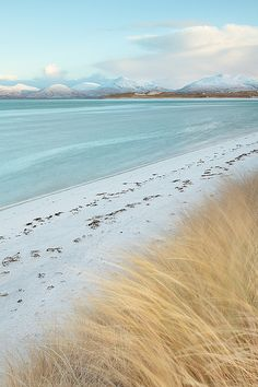 Traigh Sheileboist, Seilebost, Scotland in Winter by David Kendal