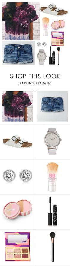 """Adorable"" by syds-fashion-4-ever ❤ liked on Polyvore featuring American Eagle Outfitters, Birkenstock, Forever 21, Michael Kors, jane, NARS Cosmetics, tarte and MAC Cosmetics"