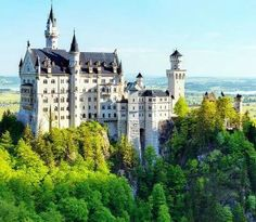 Neuschwanstein Castle (Germany) - This 19th century palace on a big hill is built by King Ludwig II from his personal fortune. It has been open to the public since his death in 1886. Want to discover more hidden gems in Europe? All of them can be found on www.broscene.com