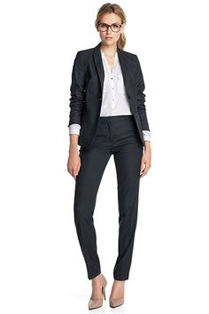 Esprit / textured stretch business trousers