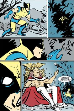 Wolverine meets Freddie Mercury in the greatest comic page that never was! by Colleen Coover