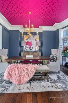 Our Colorful + Formal Dining Room – Jennifer Allwood Our Colorful + Formal Dining Room – The Magic Brush Inc Dining Room Colors, Dining Room Design, Luxury Dining Room, Dining Rooms, Dining Chairs, Dining Table, Local Furniture Stores, Transitional Decor, Formal Living Rooms