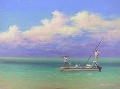 Fishing The Flats by Martin Figlinski Oil ~ 9 x 12  www.mountdoracenterforthearts.org