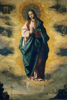 Francisco de Zurbaran - La Inmaculada Concepcion (The Immaculate Conception); Museo del Prado, Madrid, Spain; c.1630