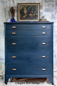 SOLD   Hand Painted Antique Dresser, Chest of Drawers with Glove Box by ChapterTwoVintage on Etsy https://www.etsy.com/listing/476552436/sold-hand-painted-antique-dresser-chest