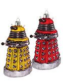Doctor Who Gold & Red Dalek Christmas Tree Decorations - BBC Shop Exclusive