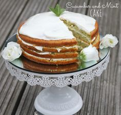 Cucumber and Mint Cake - Mummy Mishaps