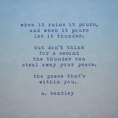 """""""When It Thunders. Rain Poems, When It Rains, Thunder, Writer, Poetry, Peace, Let It Be, Words, Writers"""