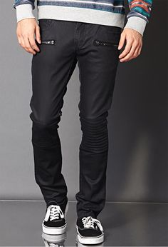 Forever 21 carries the latest styles in jeans for men, including ripped jeans, skinny, slim-fit and more. Find your perfect denim style today! Skinny Biker Jeans, Skinny Fit, 21men, Latest Trends, Forever 21, Black Jeans, Mens Fashion, Denim, My Style