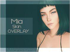 "dopecherryblossomheart: "" Mia Skin Overlay Created by Milarasims Created for The Sims 4 """