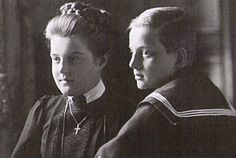 Grand Duchess Maria Pavlovna (the Younger) with her brother Grand Duke Dmitri Pavlovich